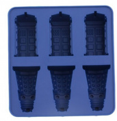 New Arrival Food Grade Doctor Who Dalek & Tardis Ice Tray Candy Jello Chocolate Mold Kitchen Tool