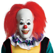Rubie's Official Adult's Pennywise Deluxe Mask with Hair Clown, IT The Movie - One Size, Multi-Coloured