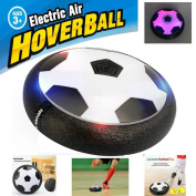 FJBMW Kids Air Power Soccer Football Size Boys Girls Sport Children Toys Training Football Indoor Outdoor Disc Hover Ball Game with Foam Bumpers and Light Up LED Lights