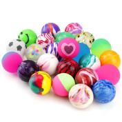 Biging 24 Pieces Jet Bouncy Balls 25mm Mixed Colour Party Bag Filler for Children