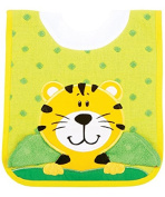 AM PM Kids! Pullover Bib with Wash Cloth, Tiger