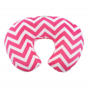 My Blankee Chevron Minky Nursing Pillow Slipcover, Raspberry, 46cm x 41cm x 14cm