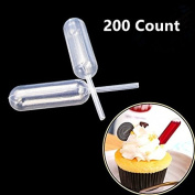 ANSTER 200pcs Plastic Transfer Pipettes Suitable for Cakes