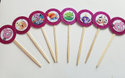 8 Pink Stella Angry Birds Cupcake Toppers Stella Bomb Birds Bad Piggy Piggies Birthday Party Supplies