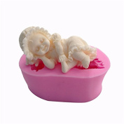 BEAUTY'S CASTLE Sleeping Boy Girl moulds Flexible Silicone Soap Mould Candle Polymer Clay Moulds DIY Cake Chocolate Candy Cookie Moulds Baking Tools