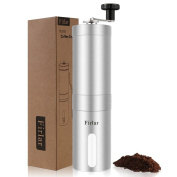 Firlar Manual Hand Coffee Grinder with Brush Stainless Steel & Ceramic Burr Coffee Mill