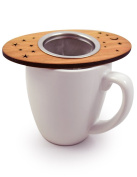 Tea Nest Strainer/Infuser, American Cherry Wood and Stainless Steel