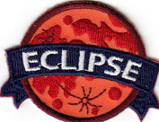 """ECLIPSE"" - IRON ON EMBROIDERED PATCH - Weather -Event - Astronomy"