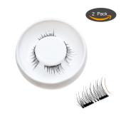 Dual Magnetic Eyelashes- Fake Eyelashes for Volume and Beauty – Enhance Your Eyelashes Instantly- Reusable, No Glue, No Mess
