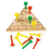 24 Wood Triangle Games Restaurant Puzzles