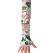 Beautiful Flamingo Long Sleeve Sun Protection Arm Sleeves Arm Cooling Sleeve Cycling Outdoor Sports Leisure