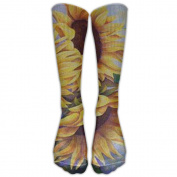 FLOWERS Spandex Knee Socks Fun Moisture Management Football Compression Socks For Girls