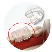 DZT1968 Hot BPA-free moldable Tooth Grinding+Storage Case Dental Mouth Guard Bruxism Splint for Night Sleeping