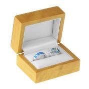 Geff House Maple Wood Double Ring Jewellery Gift Box