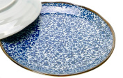 Spiceberry Home Porcelain Plate, Blue and White Ivy, 22cm , Set Of Two