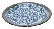 Spiceberry Home Stoneware Plate, Rainbow Fan Design, 19cm , Set Of Two