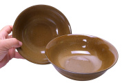 Spiceberry Home Stoneware Bowls, Brown, 20cm x 7.6cm , Set Of Two