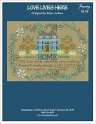 Love Lives Here Cross Stitch Chart and Free Embellishment