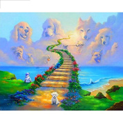 5D DIY Diamond Painting,NACOLA Rhinestone Pictures Of Crystals Embroidery Kits Arts Crafts & Sewing Cross Stitch-Pet