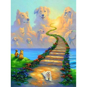 5D DIY Diamond Painting,NACOLA Rhinestone Pictures Of Crystals Embroidery Kits Arts Crafts & Sewing Cross Stitch-Dog