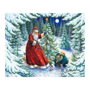 """FKUO 5D DIY Diamond Painting """"Christmas Eve gift """" Embroidery 2.8mm Round Diamond embroidery Fashion home decor"""