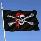 Binmer(TM) Pirate Flag 0.9m x 1.5m Calico Flag Halloween Jolly Roger Skull Flag Polyester Banner
