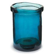 Cylinder Vase 19cm Dk Bl