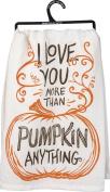 "Dish Towel, ""I Love You More Than Pumpkin Anything"" 70cm x 70cm"