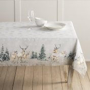 Maison d' Hermine Deer In The Woods 100% Cotton Tablecloth 150cm by 150cm