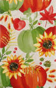 Autumn Harvest Collection Vinyl Flannel Back Tablecloth