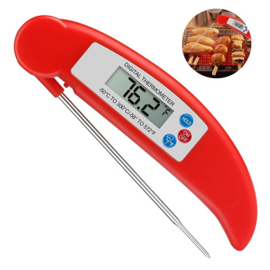 OYJJ Digital Food Cooking Thermometer Instant Read Meat Thermometer for Kitchen BBQ Grill Smoker, Candy and Bath Water(Red)