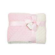 MEG Original Pink & Ivory Minky Dot Baby Girl Blanket