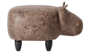 PIQUU Unique Style Padded Hippo Ottoman Stool/Bench for Kids and Adults