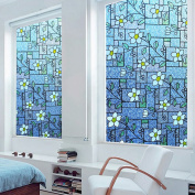 DuoFire Stained Privacy Glass Film Non-adhesive Static Cling Window Film KP107