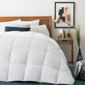 LUCID Down Alternative Comforter - Hypoallergenic - All Season - 400 GSM - Ultra Soft and Cosy - 8 Duvet Loops - Box Stitched - 3 Year Warranty - Machine Washable - Oversized King - White