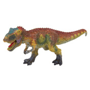 Dinosaur Figurine Indominus Rex Toy - Realistic Plastic Toy Dinosaur Figure for Children, Themed Parties, Decorations, Brown - 10.5 x 11cm x 7.9cm