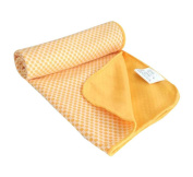 Solid Colour Gym Wipes Sweat Towel Practical Quick Drying Towel, Yellow