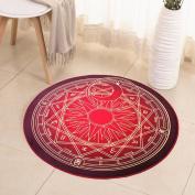 Hyun times Carpet camera magic circle round carpet children bedroom bedside cloakroom computer chair cushion