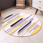 Hyun times Round carpet living room modern Nordic bedroom study computer chair summer thin mat