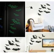 Yesido. Bat Decorative Wall Stickers Decor Home Window Decoration