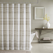 INK+IVY II70-659 Lakeside Cotton Shower Curtain, 180cm x 180cm , Grey