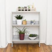 WE Furniture 80cm Wood Ladder Bookshelf - Grey