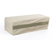 CoverMates – Rectangular Ottoman Cover – 32W x 24D x 18H – Elite Collection – 3 YR Warranty – Year Around Protection - Khaki
