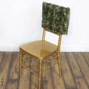 Efavormart Wonderland Rosette Square-Top Chair Caps Willow Green