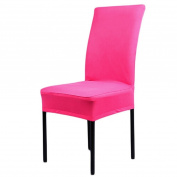 Acamifashion Stretch Removable Washable Dining Chair Cover Seat Slipcover - Rose-Red