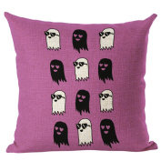 SUPPION Happy Halloween Linen Throw Pillow Case Cushion Cover Home Sofa Decor New(13 kinds of patterns)