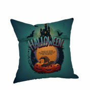 Halloween Pillow Cases,SUPPION Happy Halloween Pillow Cases Linen Sofa Cushion Cover Home Decor(16 kinds of patterns)