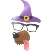 Halloween Photo Booth Props, Kyerivs 35pcs Halloween Props Kit Halloween Masks Happy Halloween Party Supplies