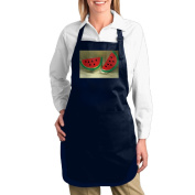 Watermelon Fruits 3Lady Canvas Funny Apron Restaurant Kitchen Aprons Girls With Pocket