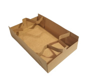 Paperboard 4 Corner 28cm x 17cm x 7cm Food and Drink Stadium / Theatre Strap Tray / Carrier or Holder by MT Products